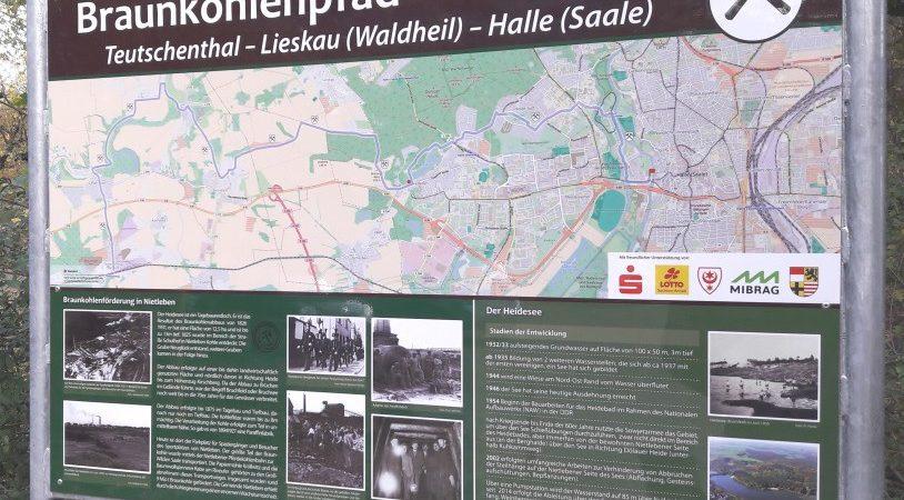 Informationstafel zum Braunkohlenpfad // Standort: Heidebad